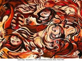 Daphne Odjig এর আকা ছবি, Genocide No 1, ১৯৭১